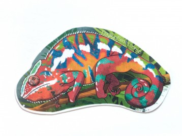 Red Panther Chameleon Animal Stickers