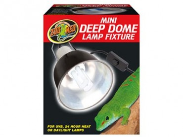 Zoo Med Mini Deep Dome Reptile Lamp Fixture