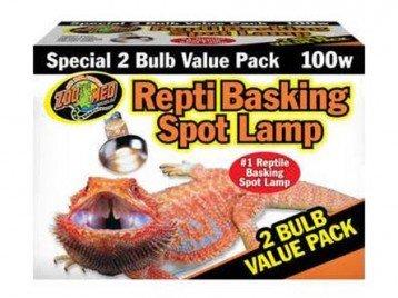 Zoo Med  Repti Basking Spot Lamp 2 Bulb Value Pk