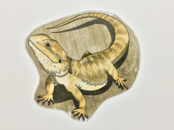 Bearded Dragon Animal Stickers