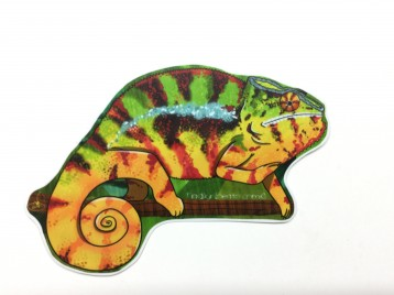 Orange Panther Chameleon Animal Stickers