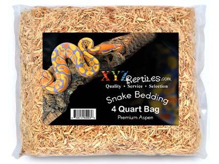 Premium Aspen Snake Bedding 4 Quart Bag